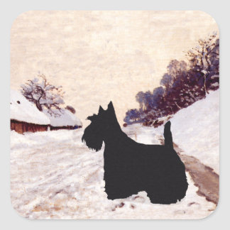 Scottish Terrier Homeward Bound Square Sticker