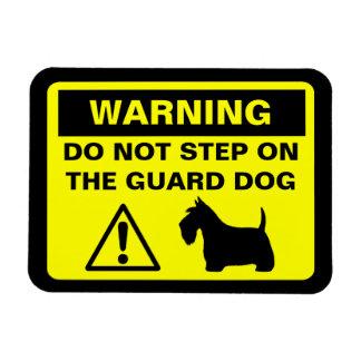 Scottish Terrier Humorous Guard Dog Warning Rectangular Photo Magnet