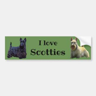 Scottish Terrier, I love, wheaten/black Bumper Sticker