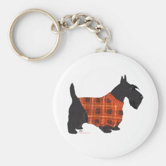 Scottish Terrier in a Sweater Basic Round Button Key Ring