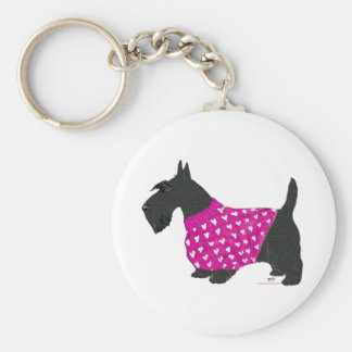 Scottish Terrier in a Sweater Key Chain