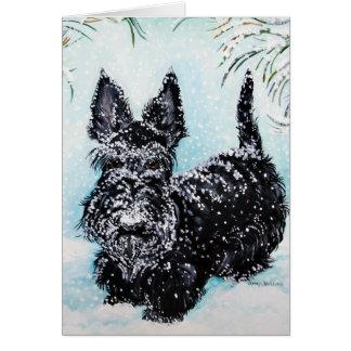 "Scottish Terrier in Winter ""Nora"" Card"