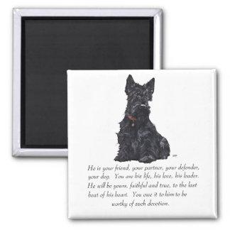 Scottish Terrier Keepsake - MALE Dog Square Magnet