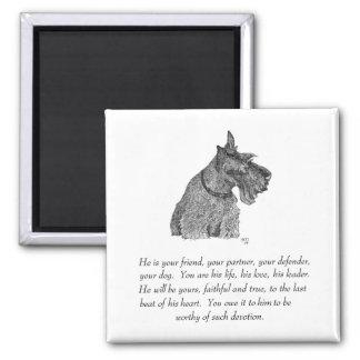 Scottish Terrier Keepsake - MALE Magnet