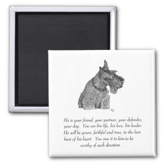 Scottish Terrier Keepsake - MALE Square Magnet