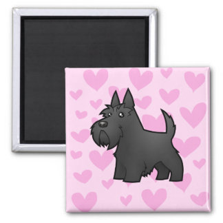 Scottish Terrier Love Square Magnet