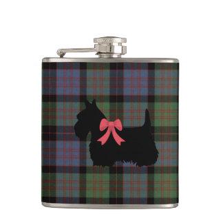 Scottish Terrier, Macdonald tartan plaid print Flask