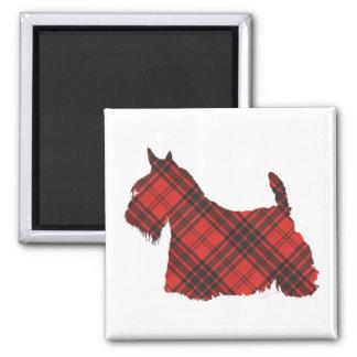 Scottish Terrier Maxwell Tartan Square Magnet