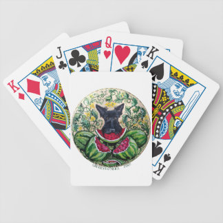 Scottish Terrier Melons Bicycle Playing Cards