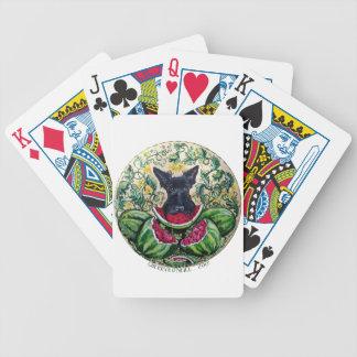 Scottish Terrier Melons Poker Deck