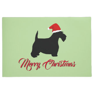 Scottish Terrier Merry Christmas Doormat