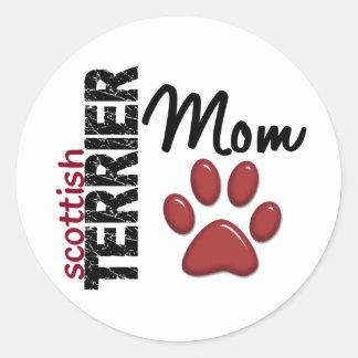 Scottish Terrier Mom 2 Classic Round Sticker
