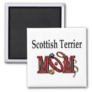 Scottish Terrier MOM Gifts Square Magnet