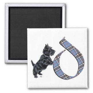 Scottish Terrier Monogram D Square Magnet