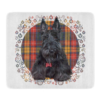 Scottish Terrier on Tartan Cutting Board