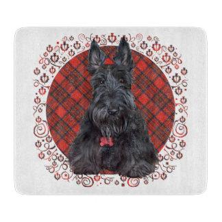 Scottish Terrier on Tartan Cutting Board