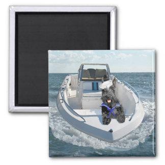Scottish Terrier on the Boat Magnet