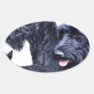 Scottish Terrier Oval Sticker