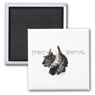 Scottish Terrier Party Animal Magnet