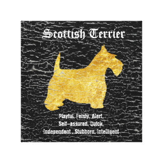 Scottish Terrier Personalize Stretched Canvas Prints