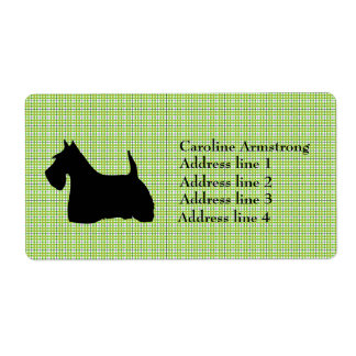 Scottish Terrier  personalized address labels