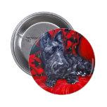 Scottish Terrier Portrait Haggis Button