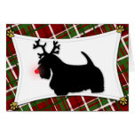 Scottish Terrier Reindeer Christmas Card