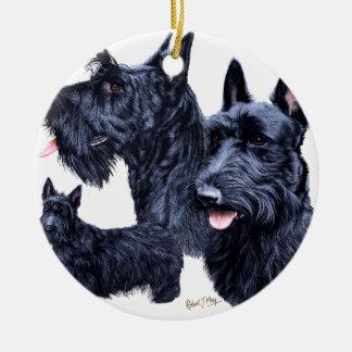 Scottish Terrier Round Ceramic Decoration