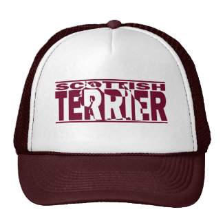Scottish Terrier Silhouette Cap
