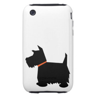 Scottish Terrier silhouette dog iphone 3G case mat