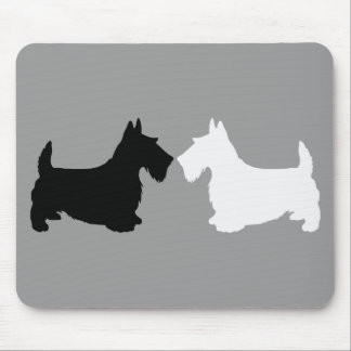Scottish Terrier Silhouette Duet Mousepad