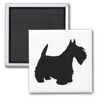 Scottish Terrier Silhouette Refrigerator Magnets