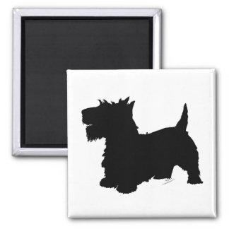 Scottish Terrier Silhouette Fridge Magnet