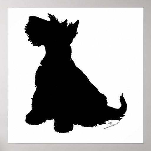Scottish Terrier Silhouette Poster