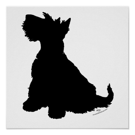 Scottish Terrier Silhouette Poster