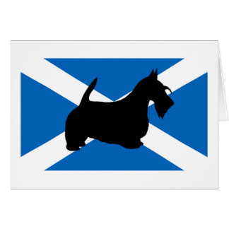 scottish terrier silhouette Scotland flag.png Card