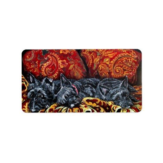Scottish Terrier Sofa Label