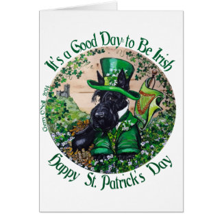 Scottish Terrier St. Patrick's Day Card