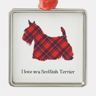 Scottish Terrier Stewart Tartan Christmas Ornament