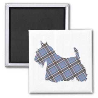 Scottish Terrier Thomson Tartan Square Magnet
