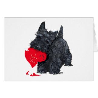 Scottish Terrier Valentine Card