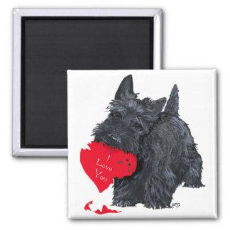 Scottish Terrier Valentine Square Magnet