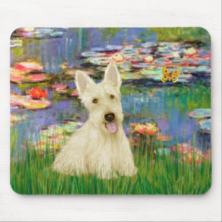 Scottish Terrier (W5) - Lilies 2 Mouse Mat