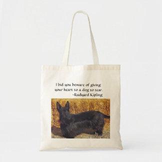 Scottish Terrier w/ Rudyard Kipling saying Budget Tote Bag