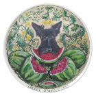 Scottish Terrier Watermelons Plate