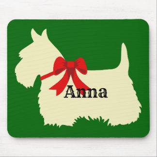 Scottish Terrier wheaten silhouette, Island green Mouse Mat