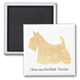 Scottish Terrier Wheaten Silhouette Square Magnet