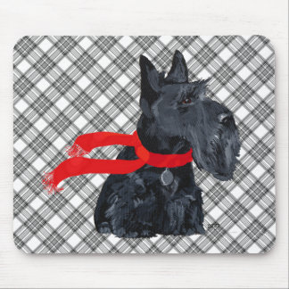 Scottish Terrier Winter Holiday Mouse Mat