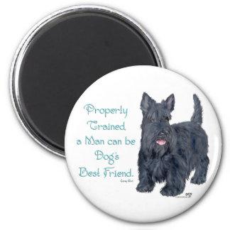 Scottish Terrier Wit & Wisdom - Training 6 Cm Round Magnet