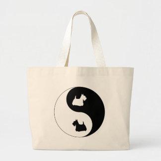 Scottish Terrier Yin Yang Large Tote Bag